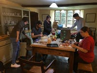A group in the kitchen