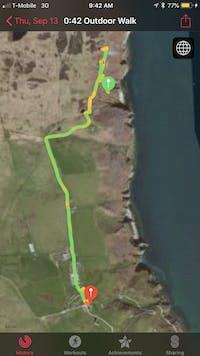 Apple watch GPS trace
